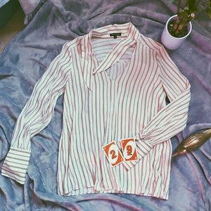 massimo dutto red/white striped top